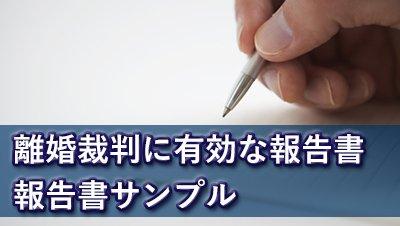 探偵名古屋 浮気調査名古屋 離婚裁判に有効な報告書報告書サンプル